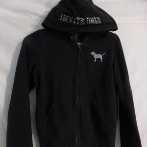 PINK Victoria's Secret black led edition hoodie